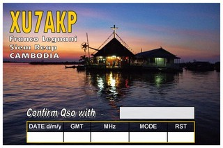 XU7AKP Cambodia QSL 2