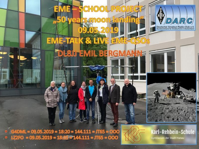 DL8JJ Germany EME QSL Card
