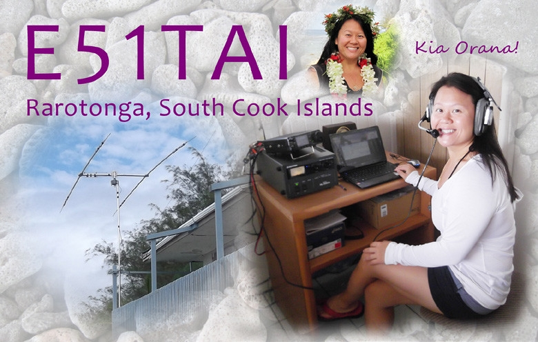 E51TAI YL QSL Card from Cook Islands