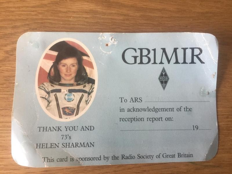 GB1MIR Helen Sharman, MIR Space Station, Staines upon Thames, England
