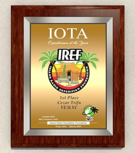 IREF Expeditioner of the Year 2019 VE3LYC Cesar Trifu