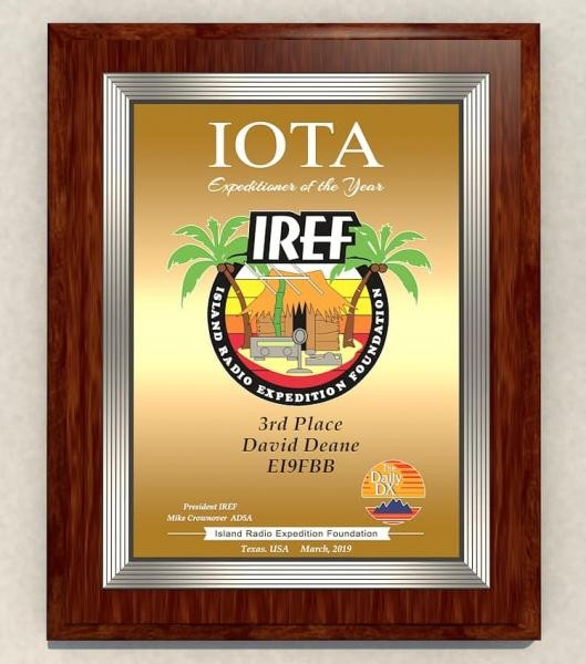 IREF Expeditioner of the Year 2019 EI9FBB