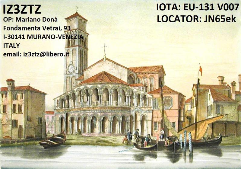 IZ3ZTZ Mariano Dona, Murano, Venice, Italy
