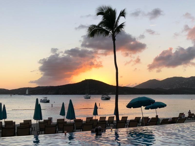 KP2/DL5LYM Sunset, Charlotte Amalie Harbor, US Virgin Islands.