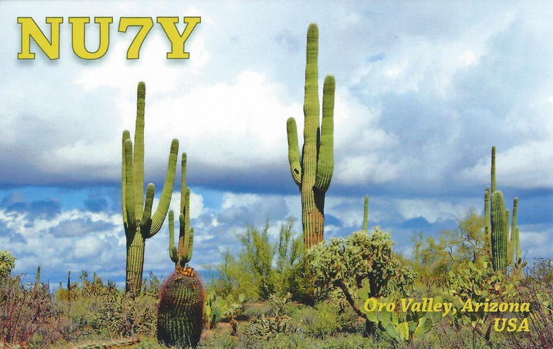 NU7Y Quinton Gleason, Oro Valley, Arizona, USA. QSL Card