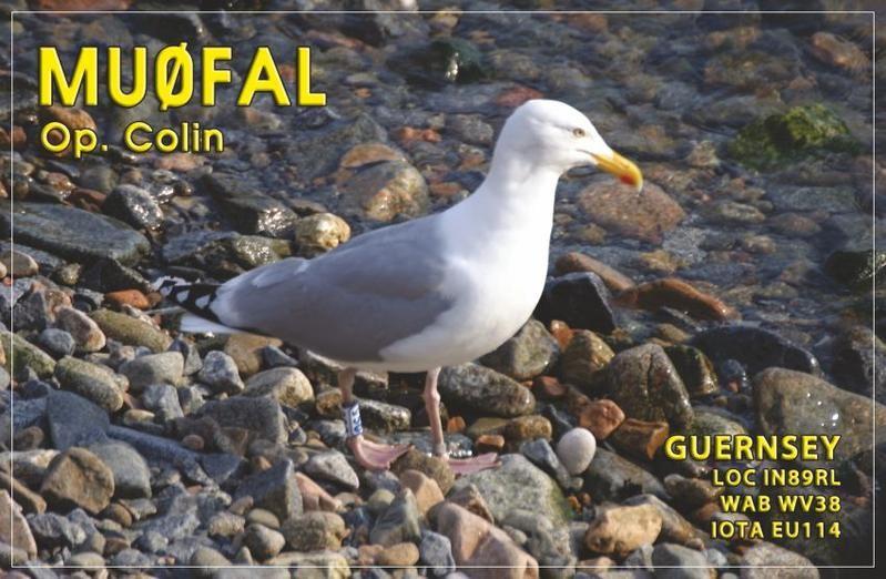 MU0FAL Collin Fallaize, Vale, Guernsey Island QSL Card