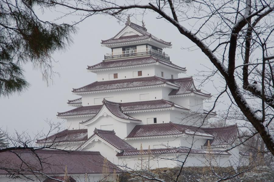 8J7AIZU Tsuruga castle, Aizu-Wakamatsu, Fukushima, Japan.