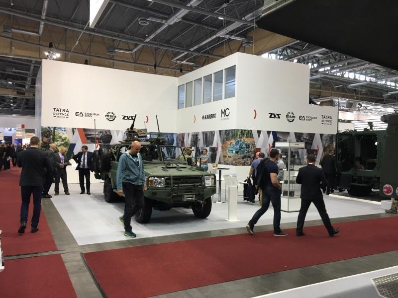 IDET International Defence and Security Technologies BVV Fairs Brno, Velethry, Brno, Czech Republic. Tatra Defence