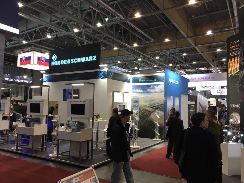 IDET International Defence and Security Technologies BVV Fairs Brno, Velethry, Brno, Czech Republic. Rohde Schwarz
