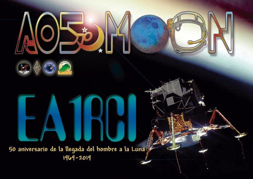 AO50MOON Apollo XI Moon Landing, Padron, A Coruna, Spain. Radio Club Asorapa