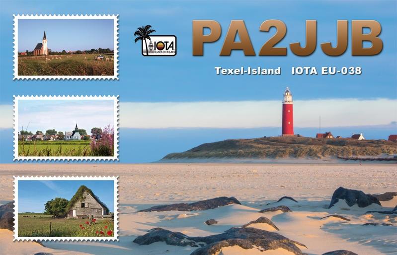 PA6TXL Jan Bakker, Texel Island QSL Card