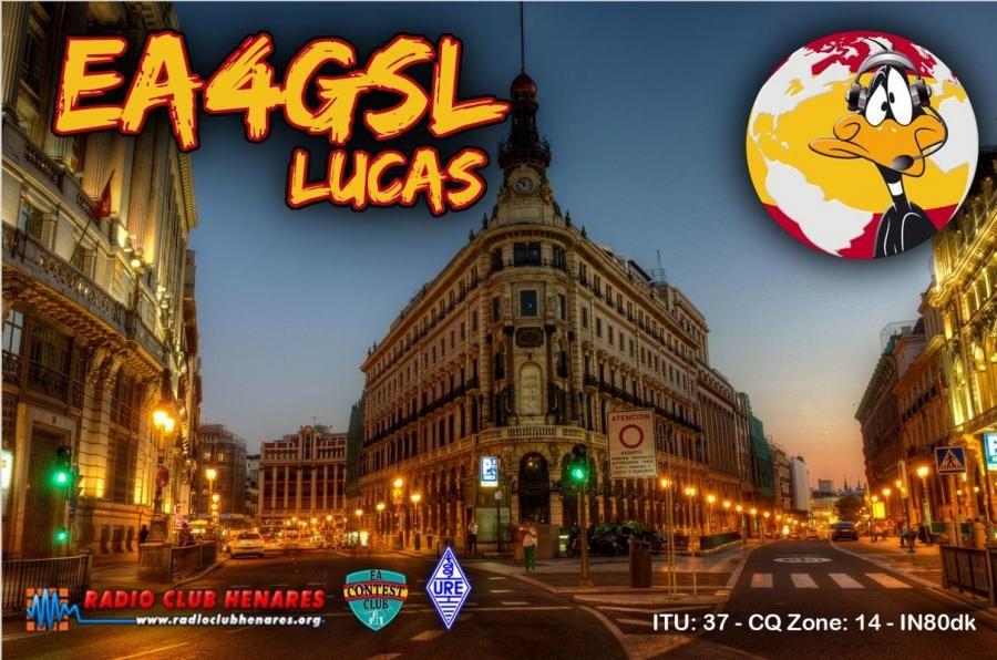 ED4K Lucas Ribio, Madrid, Spain QSL Card