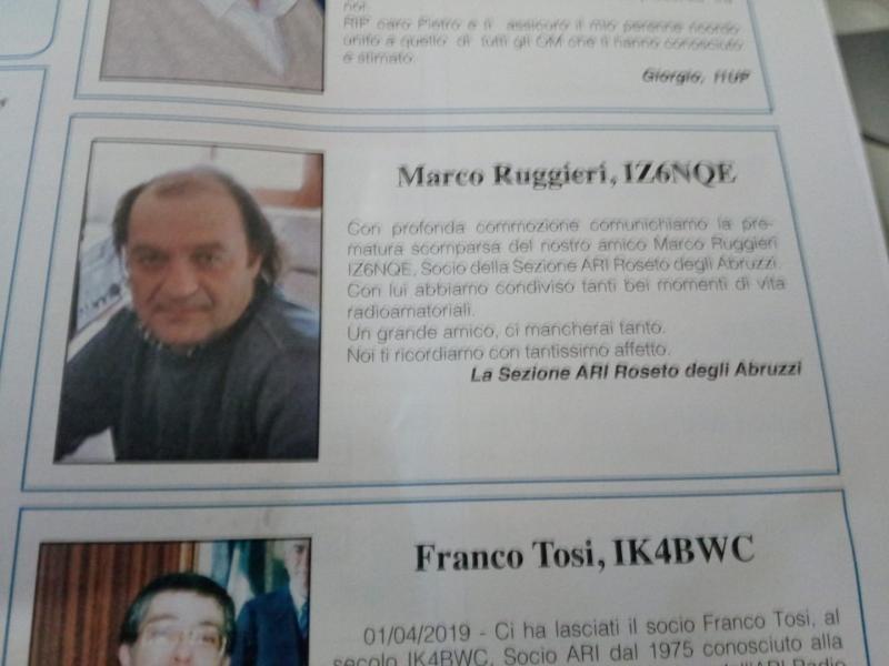 IZ6NQE Marco Ruggieri, Tortoreto Lido, Teramo, Italy