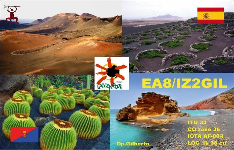 EA8/IZ2GIL Lanzarote Island, Canary Islands