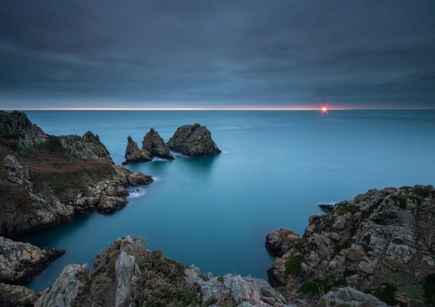 MU/HB9GWJ Sunset, Guernsey Island
