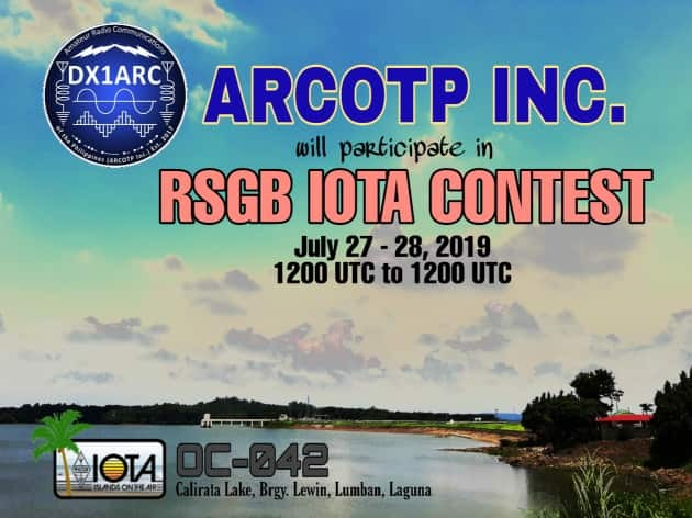 DX1ARC Calirala Lake, Lumban, Luzon Island, Philippines