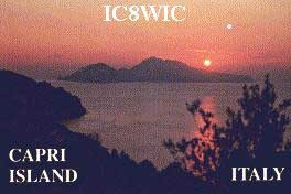 IC8WIC Capri Island, Italy QSL Card