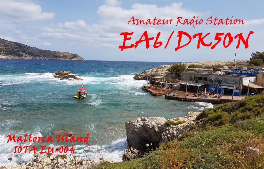 EA6/DK5ON Mellorca Island QSL Balearic Islands
