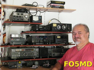 FO5MD Denis Ferrand, Pirae, Tahiti Island, French Polynesia Radio Room Shack
