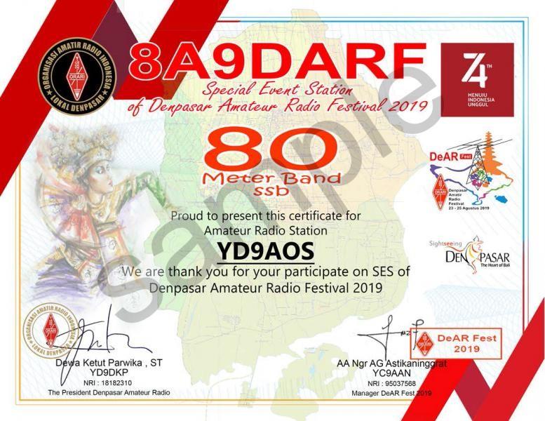 8A9DARF Amateur Radio Festival, Densapar, Bali Island, Indonesia
