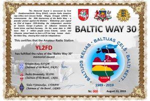Baltic Way 2019