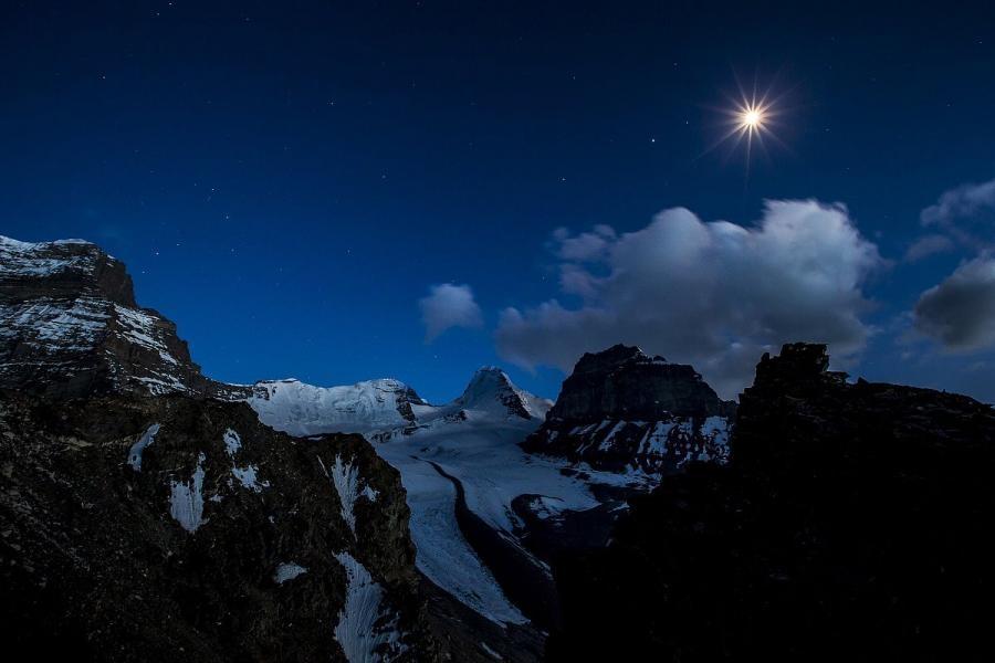 Moonlight over Pamir Langar Badakshan EY8MM Nodir Tursun-Zadeh