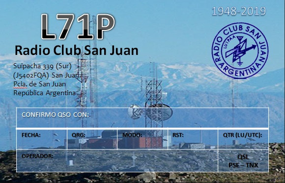 L71P Radio Club, San Juan, Argentina