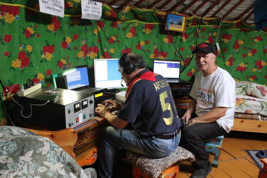 JT7A Khovsgol Nuur National Park, Mongolia. Radio Room Shack