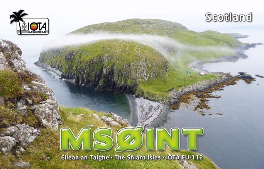 MS0INT Shiant Isles, QSL Card