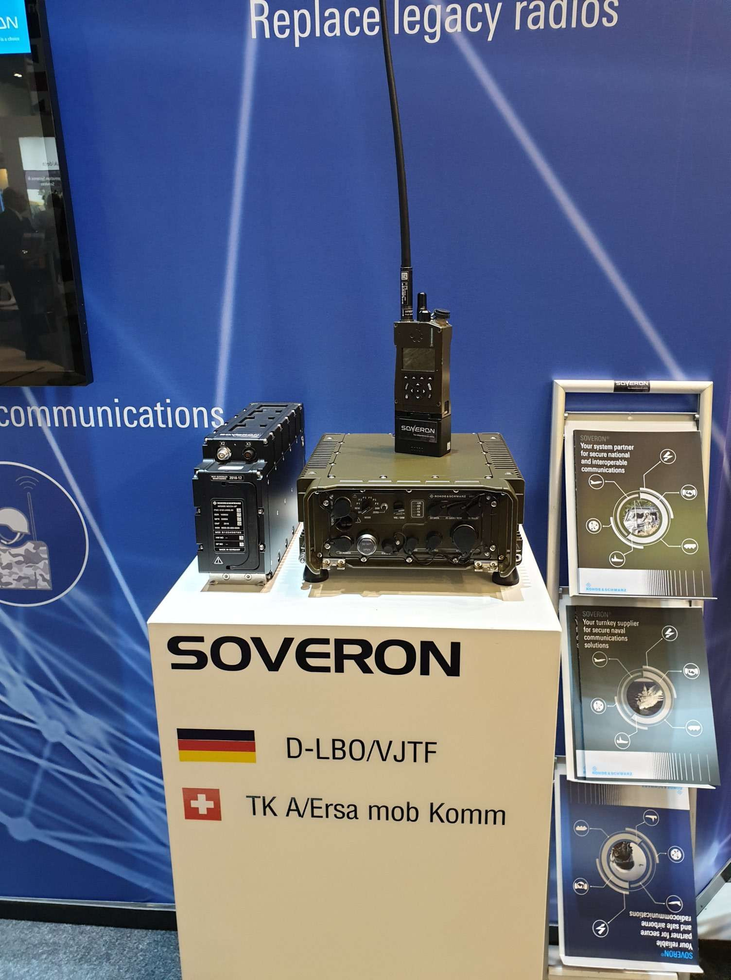 SOVERON Tactical Radios Rohde Schwarz DSEI 2019 London Image 2