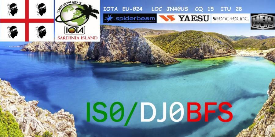 IS0/DJ0BFS Frank Wahlster, San Teodore, Costa Smeralda, Sardinia Island