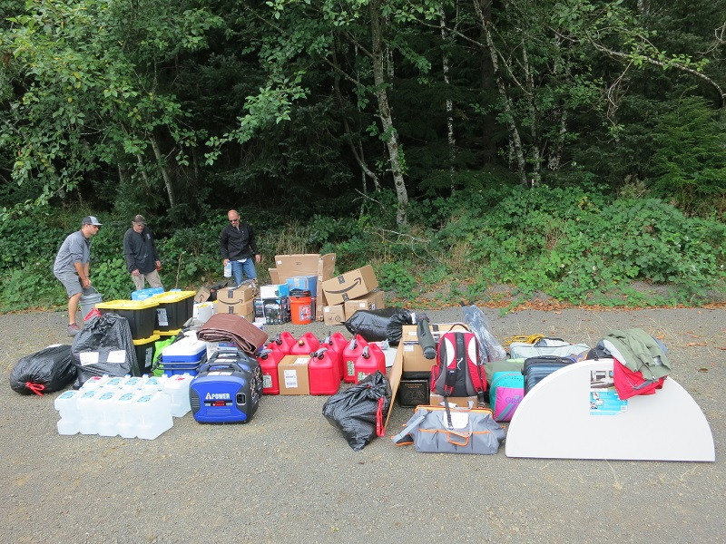 K7TRI Tillamook Rock Preparing the equipment and materials for transportation