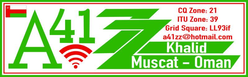 A41ZZ Khalid Al Jardani, Muscat, Oman. Logo