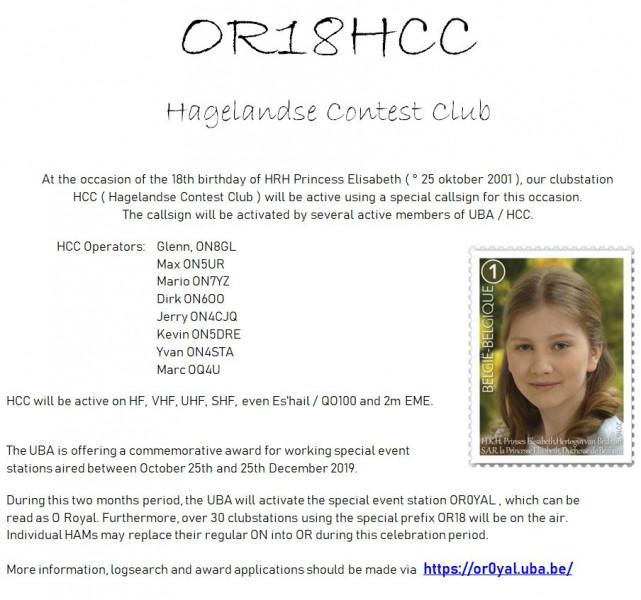 OR18HCC Hagelandse Contest Club, Tielt WInge, Belgium