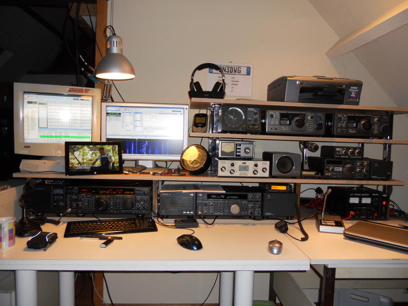 OR3DWG Guy Dhaene, Horebeke, Belgium Radio Room Shack