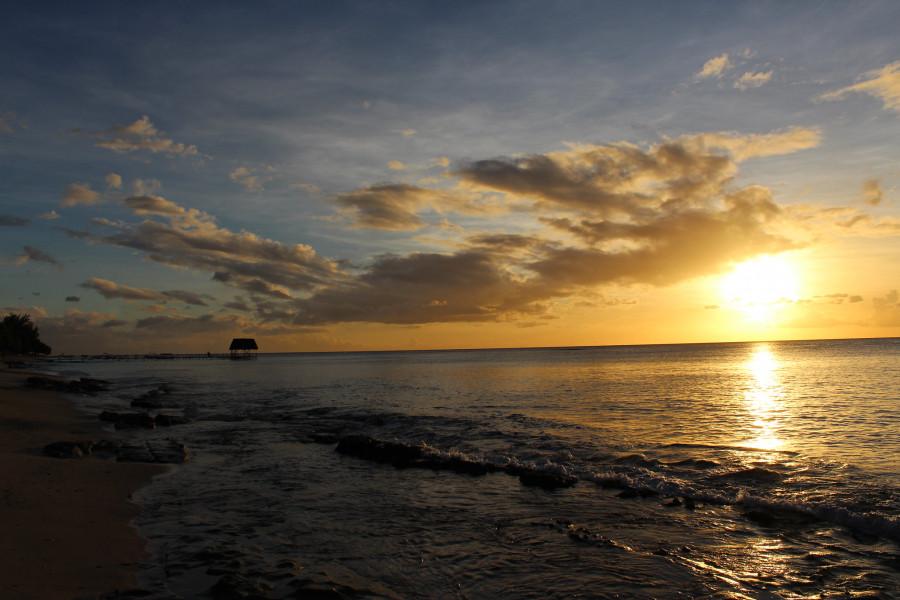 3B8/N6VI Sunset, Pointe aux Biches, Mauritius Island.
