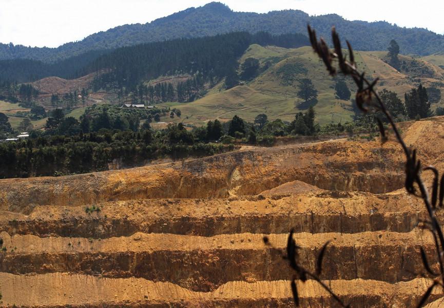 ZL/EI9KC Historic Waihi Gold Mine, Waikato, New Zealand