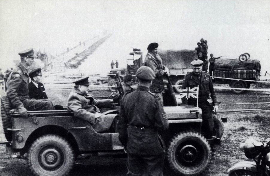 PA75OV Churchill Montgomery February 1945