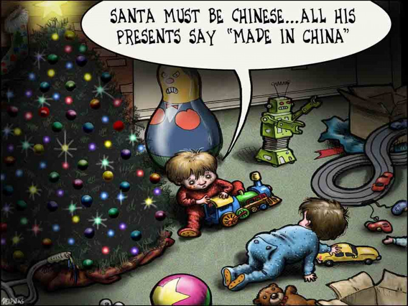 Santa must be Chinese