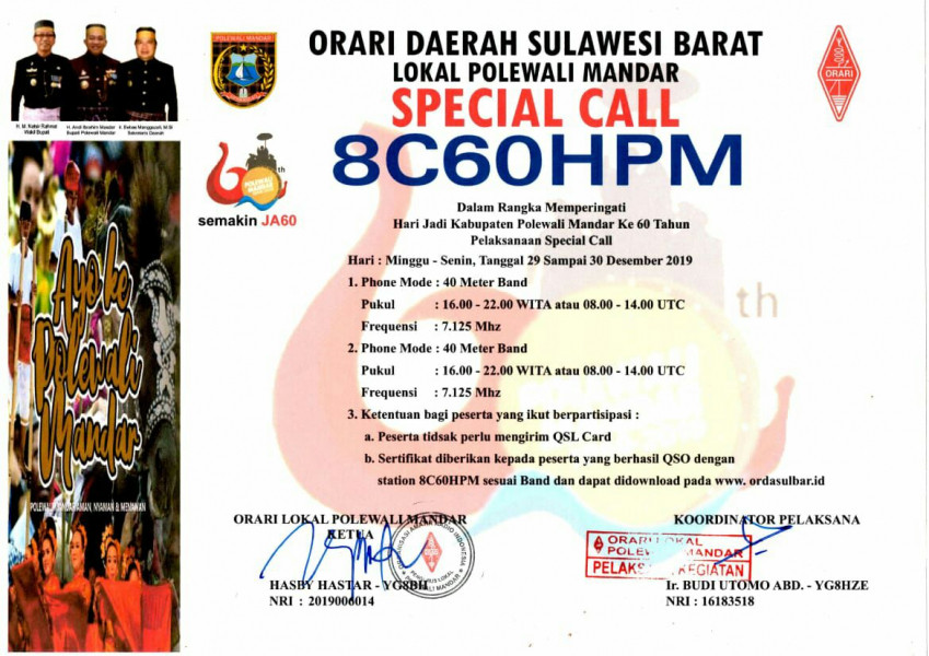 8C60HPM Polewali, Indonesia
