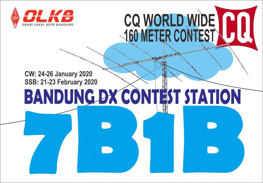 7B1B Bandung, Indonesia CQ WW 160m Contest