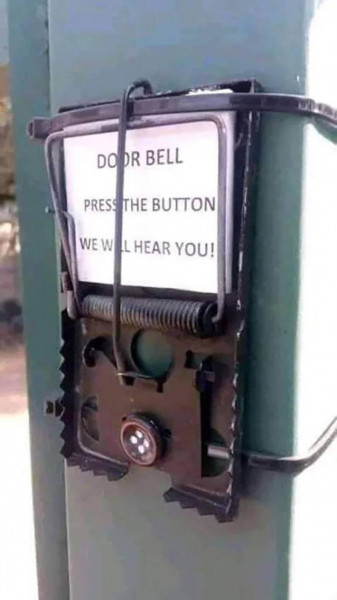 Door Bell. Press the button we will hear you