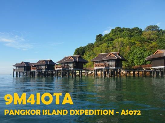 9M4IOTA Pangkor Island Logo