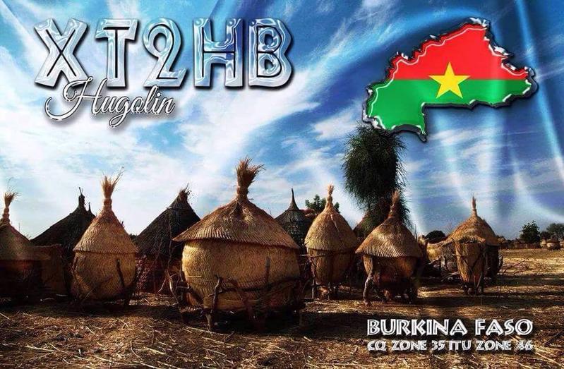 XT2HB Hugolin Pooda, Ouagadougou, Burkina Faso QSL