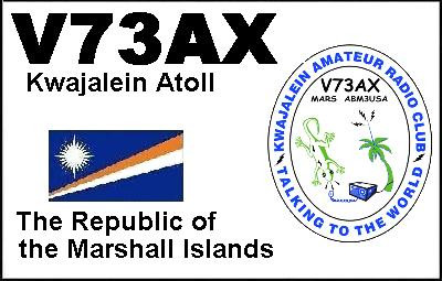 V73AX Kwalein Amateur Radio Club, Kwajalein Atoll, Marshall Islands