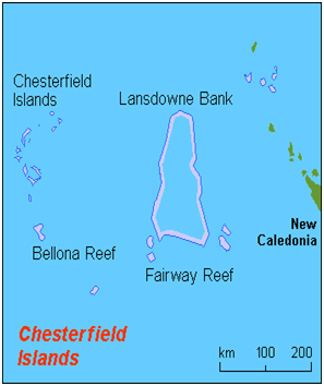 Chesterfield Islands Map