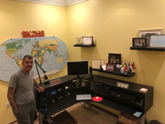 9K2HS Hamed Alshuwaie, Khaldiya, Kuwait Radio Room Shack