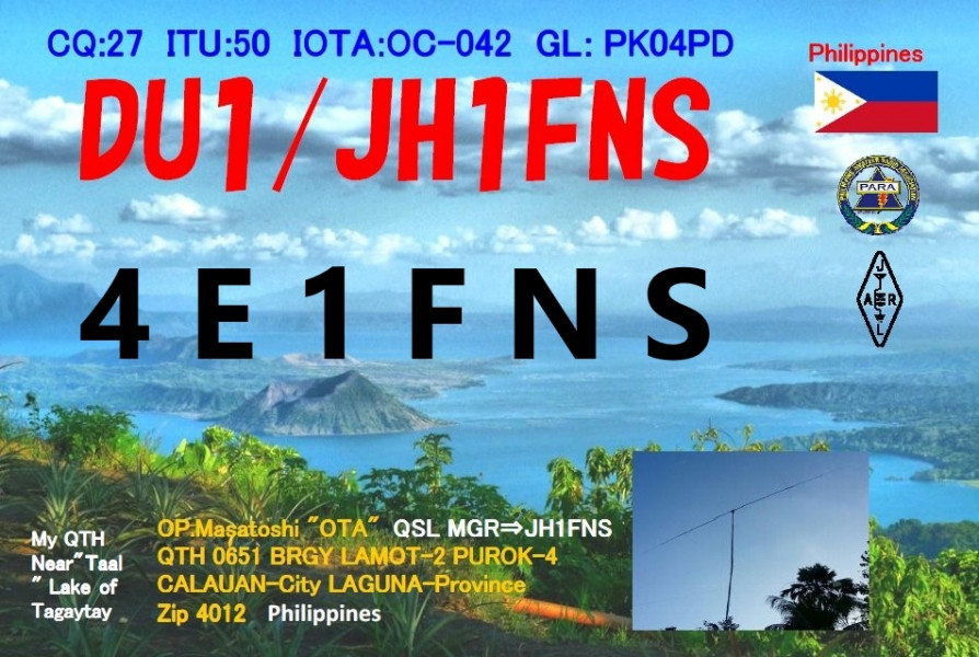4E1FNS Masatoshi Ota, Calaguan, Laguna, Philippines