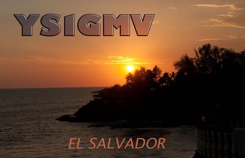 YS1GMV San Salvador, El Salvador QSL Card