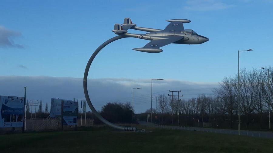 GB1GRV Monument, RAF Grove, Wantage, Oxfordshire, England, UK
